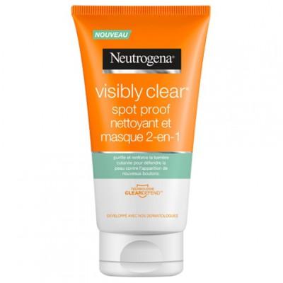 NEUTROGENA VISIBLY CLEAR nettoyant masque 2-en-1